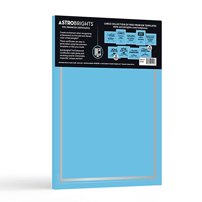 Astrobrights Foil Enhanced Certificates 8 5 X 11 65