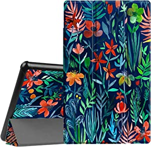 Fintie Slim Case for Amazon Fire HD 10 Tablet (Compatible with 7th and 9th Generations, 2017 and 2019 Releases) - Ultra Lightweight Protective Stand Cover with Auto Wake/Sleep, Jungle Night