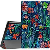Fintie Slim Case for All-New Amazon Fire HD 10 Tablet (7th Generation, 2017 Release) - Ultra Lightweight Protective Stand Cover with Auto Wake/Sleep for Fire HD 10.1 Inch Tablet, Jungle Night
