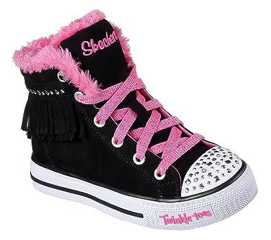 4f33553ac17 Skechers Baskets Montantes Twinkle Toes Fringe Fabulous Noir Fille ...