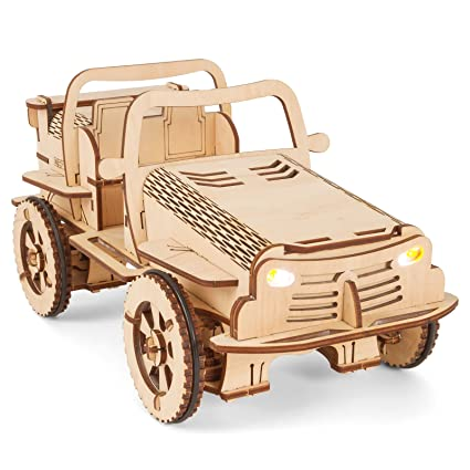 amazon com ecobot wooden model car kit remote controlled 3d