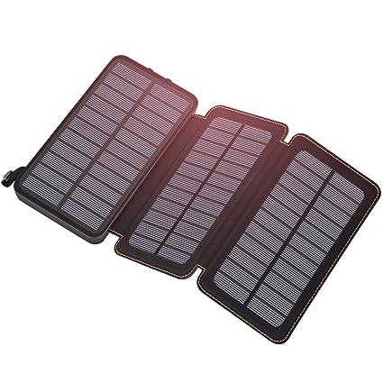 Amazon.com: ADDTOP Cargador Solar Portátil 24000mAh Banco de ...