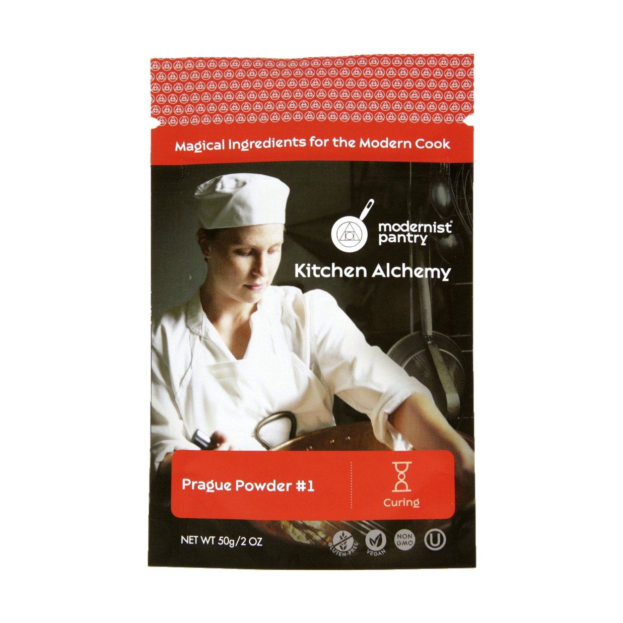 Pure Prague Powder #1 [aka Insta Cure #1, DQ Pink Curing Salt, Sel Rose] ⊘ Non-GMO ❤ Gluten-Free ✡ OU Kosher Certified - 50g/2oz
