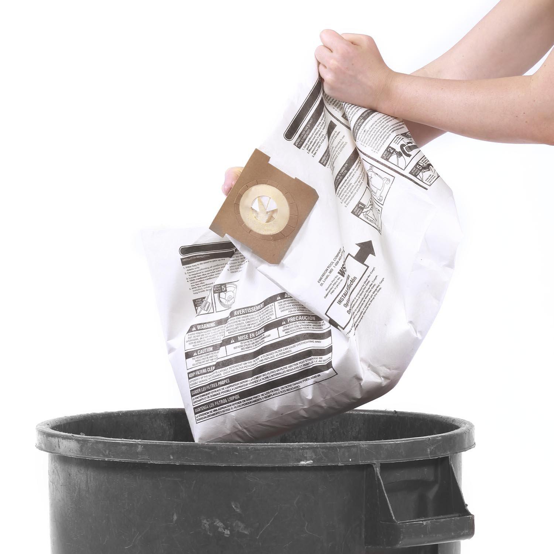 WORKSHOP Wet Dry Vacuum Bags WS32045F2 Fine Dust Collection Shop Vacuum Bags (2-Pack / 4 Shop Vacuum Bags), Bag Filter For WORKSHOP 3-Gallon To 4- 1/2 Gallon Shop Vacuum Cleaners by WORKSHOP Wet/Dry Vacs (Image #3)