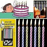 dekora 345004 Vela de Cumpleaños Originales Que No Se Apagan ...
