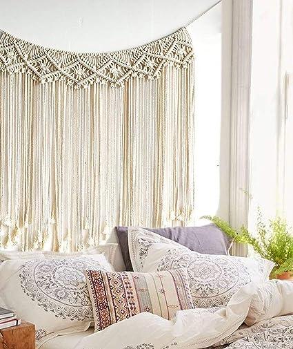 Amazon Com Macrame Wedding Backdrop Macrame Fringe Banner Home