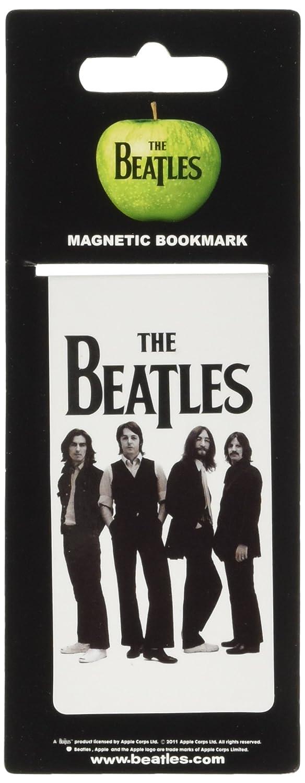 The Beatles –  Marcapá ginas blanco icó nico imagen (en un tamañ o) The Beatles-Marcapáginas blanco icónico imagen (en un tamaño) Happyfans