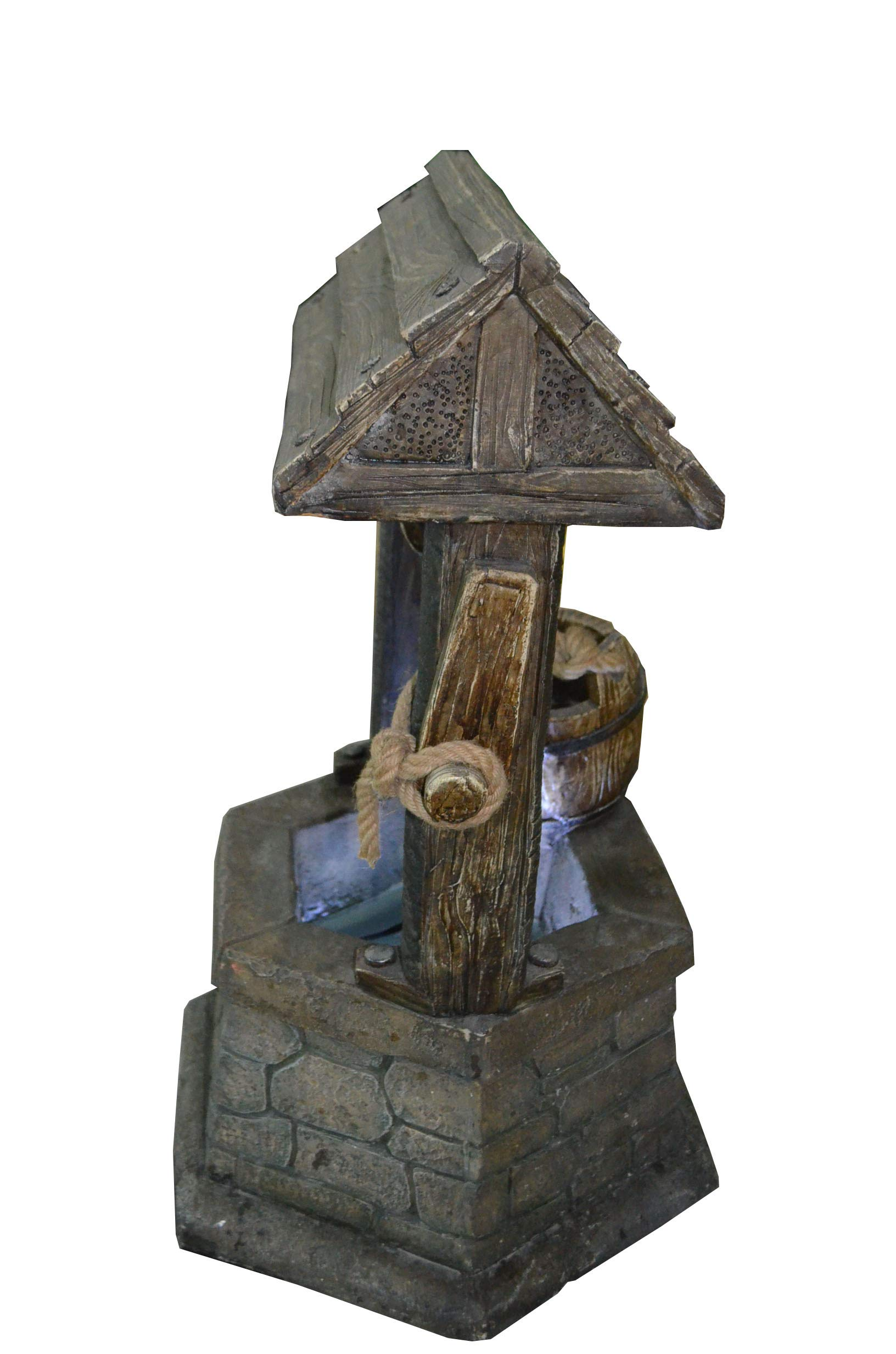 Hi-Line Gift Ltd Fountain- Wishing Well with Pouring Bucket & LED Light by Hi-Line Gift Ltd. (Image #7)