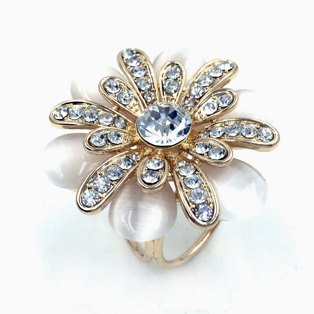 B018KSX0PU Estony Daisy Flower Scarf Buckle Brooch Clips Pin For Women (Gold) 71gcVrSW58L