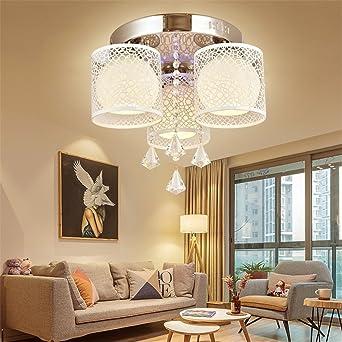 MCTECH® 24W Kristall Deckenleuchte Hängeleuchten Wohnzimmer 3 Flammig  Kristall LED E27 RGB Deckenlampe Wandlampe Hängelampe
