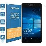 PREMYO vetro temperato Lumia 950. Pellicola vetro temperato Lumia 950 con una durezza di 9H e bordi arrotondati da 2,5D. Pellicola in vetro Lumia 950