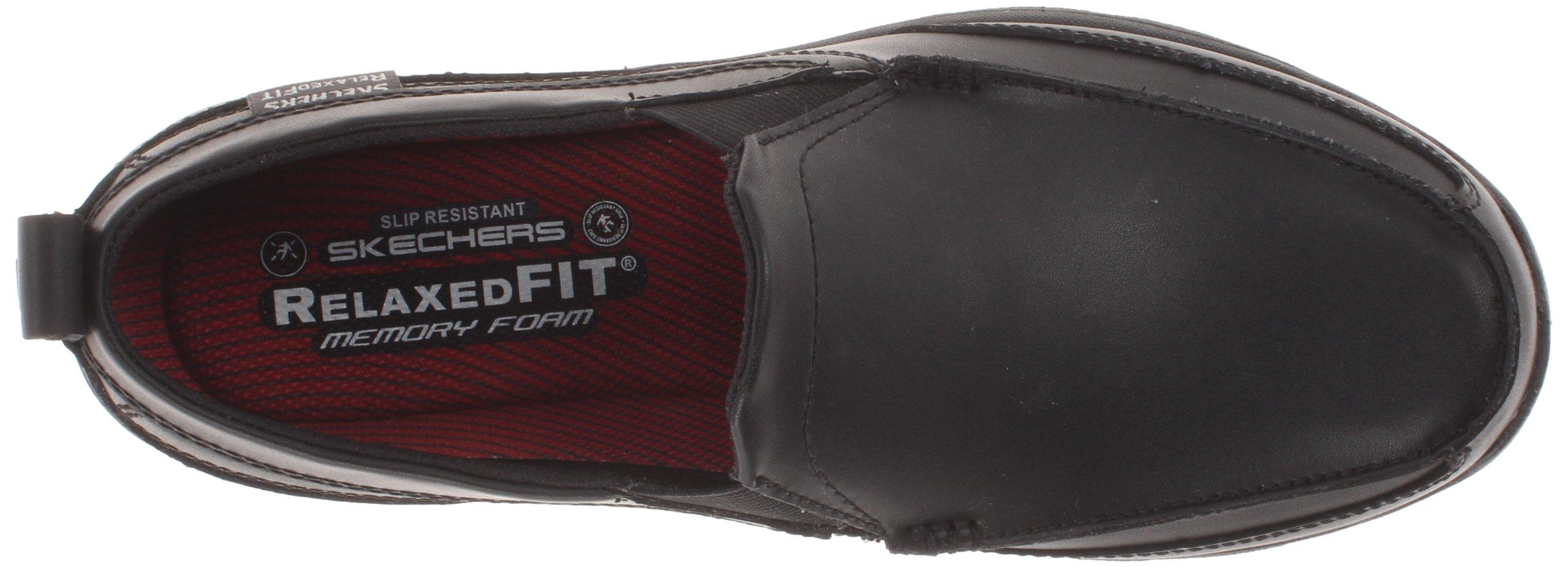 Skechers for Work Men's Hobbes Relaxed Fit Slip Resistant Work Shoe, Black, 11.5 M US by Skechers (Image #7)