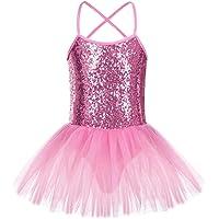 FONLAM Vestido Maillot de Ballet para Niña Vestido