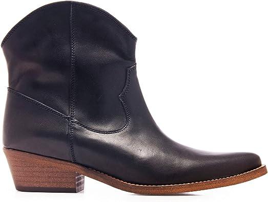 Eva López Botin Cowboy Piel Negro Mujer: Amazon.es: Zapatos y ...