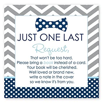 Amazon Bow Tie Baby Shower Book Insert Card Set Of 25 Baby