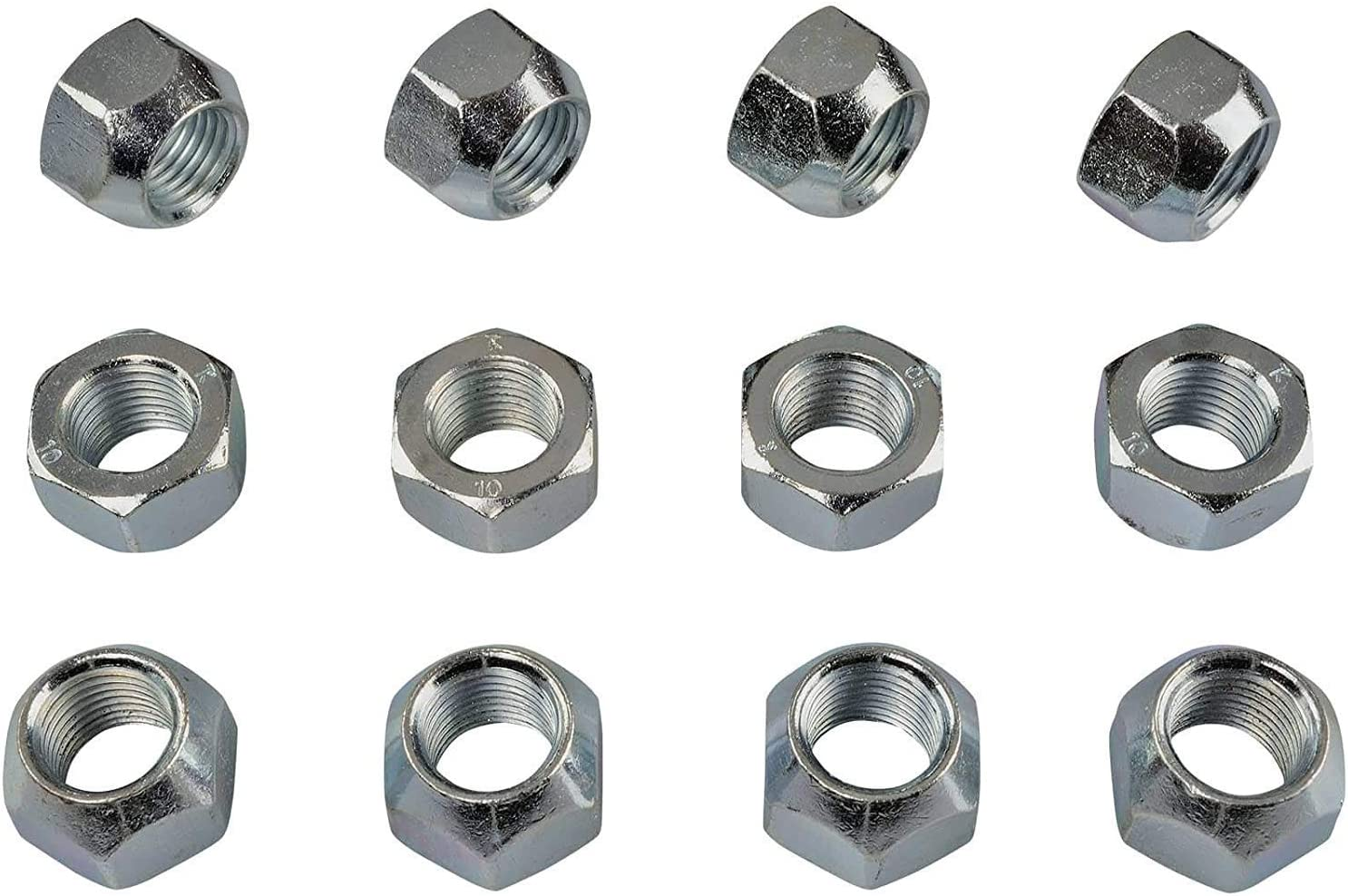 16x ZINC Wheel Nuts I Nut for Steel Wheels I Taper Seat Open I M12x1 5 SW19 I for fo Models