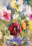 Toland Home Garden Pansies Posing 28 x 40 Inch Decorative Colorful Spring Pansy Flower House Flag