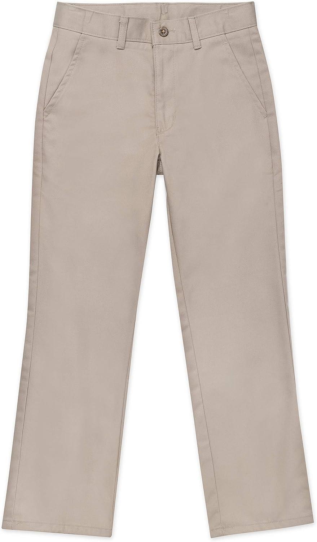 Nautica Boys School Uniform Flat Front Double Knee Twill Pant