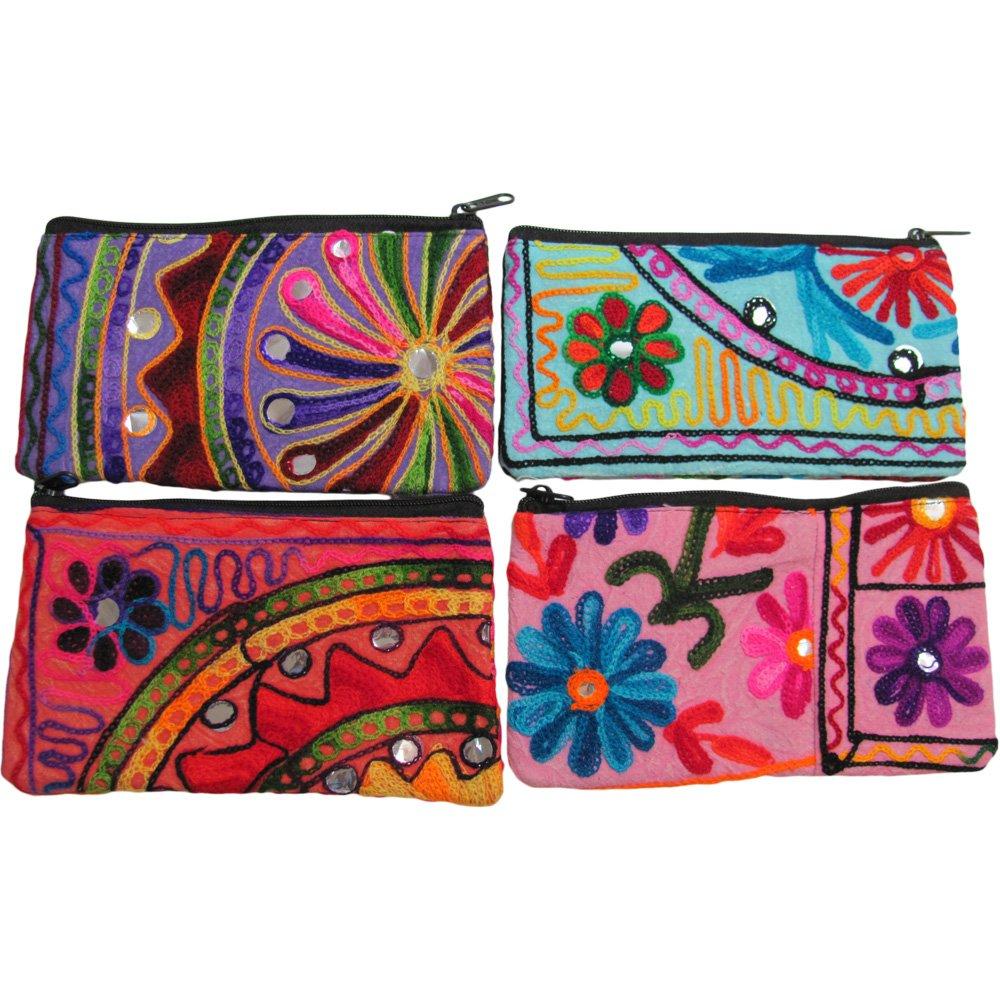 Amazon.com: Indio Vintage bordado de tela bolsa de bolsas de ...