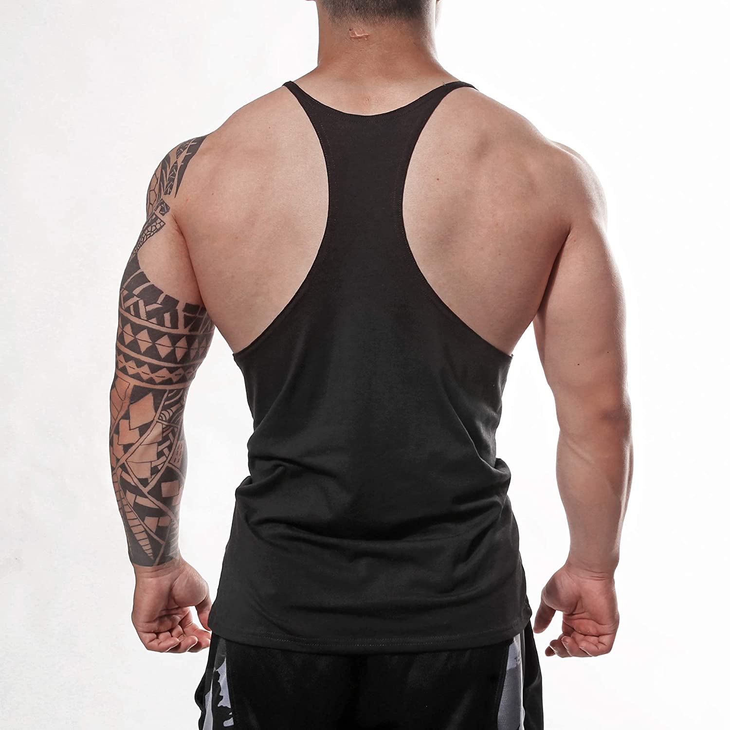9c67ddc359442 Amazon.com  Manstore Men s Gym Stringer Tank Top Bodybuilding Athletic  Workout Muscle Fitness Vest  Clothing