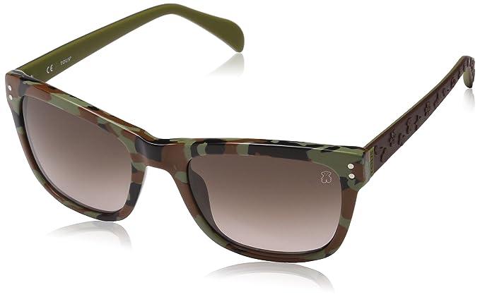 Tous STO829-5207D7 Gafas de sol, Green/Shiny Brown, 52 para ...