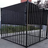 6' X 10' Black UV Rated Dog Kennel Shade Cover, Sunblock Shade Panel, Shade Tarp Panel W/Grommets (Not the kennel)