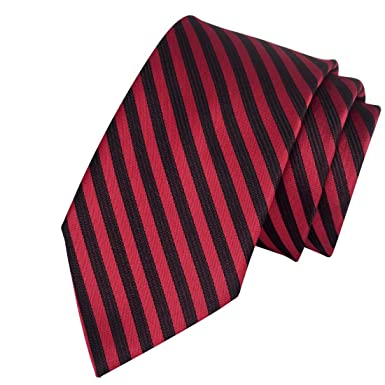 0232dc877ff9 Exotica Fashion 100% Micro Silk Poly Cotton New Neck Tie in Red-Black Color  For Men s at Party or Casual Wear  Amazon.in  Clothing   Accessories