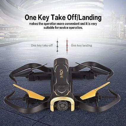 Pudincoco Attop X-PACK5 Plegable Inteligente RC Quadcopter Drone con 720P HD Wifii Altitud de cámara Mantener en Tiempo Real Modo sin Cabeza: Amazon.es: Juguetes y juegos