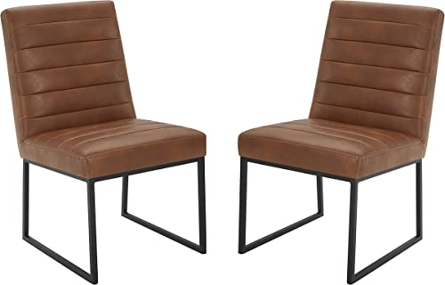 Amazon Brand Rivet Decatur Modern Faux Leather Dining Chair