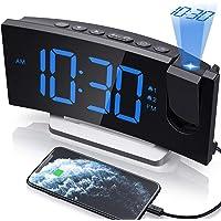 $24 » Clock Radios, Projection Alarm Clock with 0-100% Dimmer and FM Radio, Dual Alarm, 5…