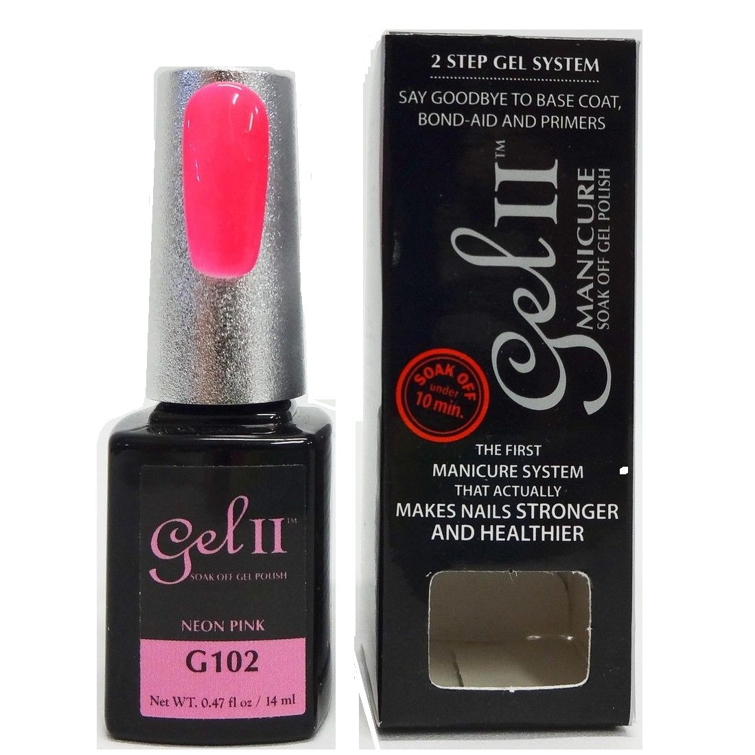 Amazon.com : Gel II Soak-Off Gel Polish, Neon Pink, 0.47 Ounce : Beauty