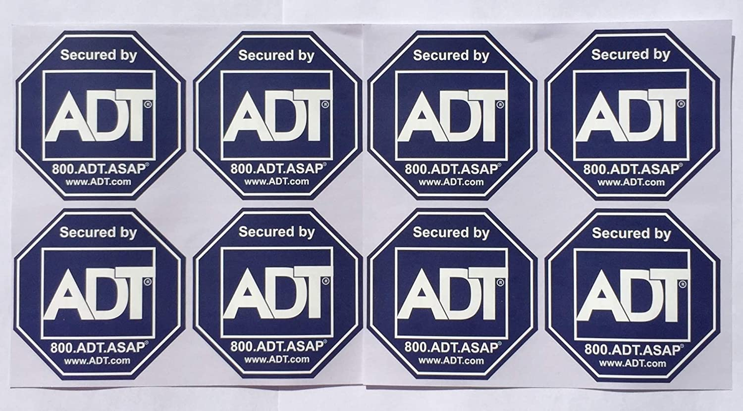 8 - ADT Sticker Decals - Double-Sided Authentic Dark Blue …