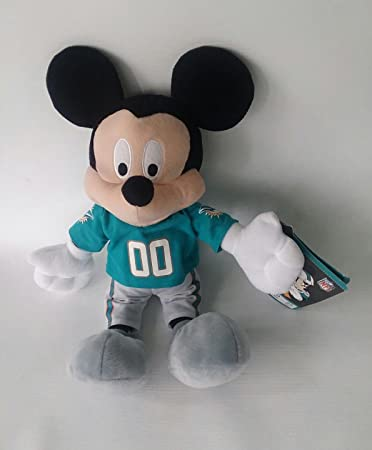 Amazon Com Nfl Disney Mickey Miami Dolphins Plush Toys Games