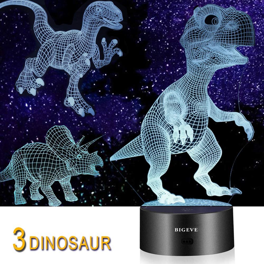 3-In-1 DINOSAUR ILLUSION LAMP