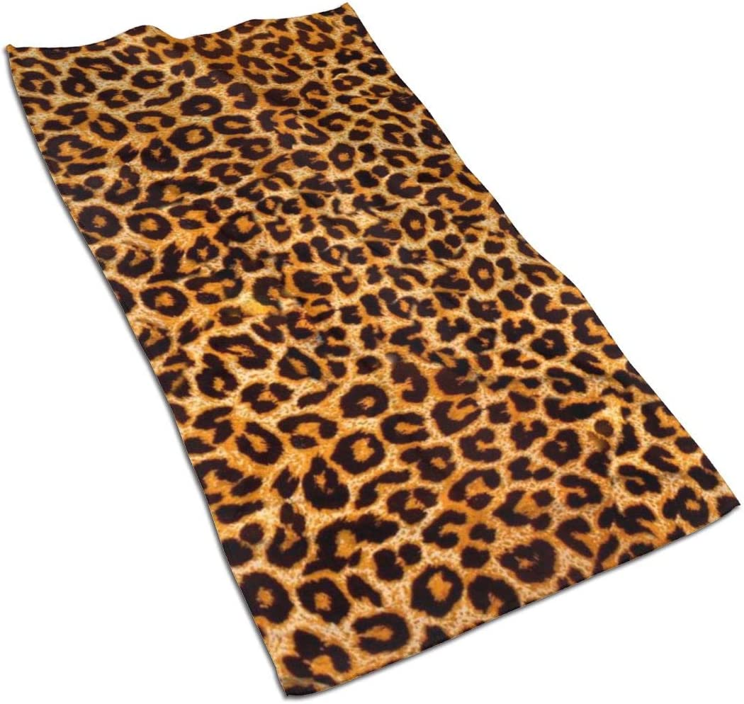 Leopard Print Kitchen Towels ¨C 17.5X27.5in Microfiber Terry Dish Towels for Drying Dishes and Blotting Spills ¨CDish Towels for Your Kitchen Decor