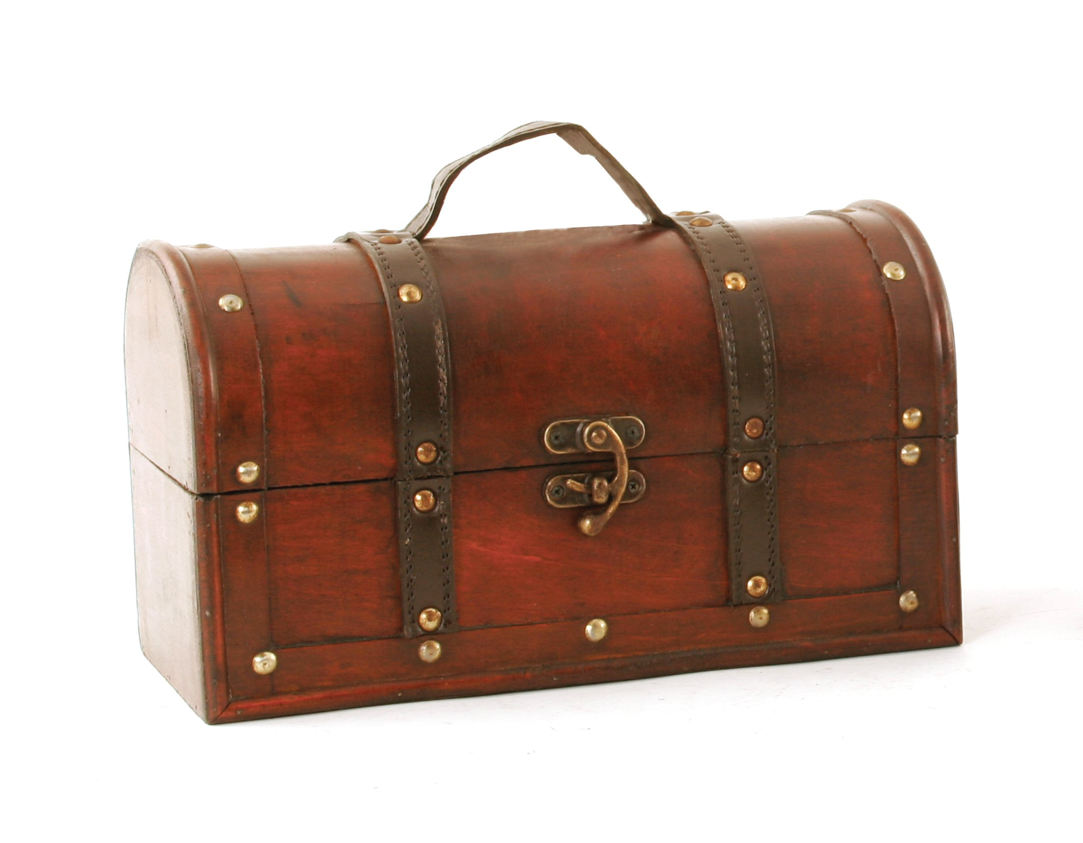 Wald Imports Brown Wood  11'' Decorative Storage Trunk/Chest