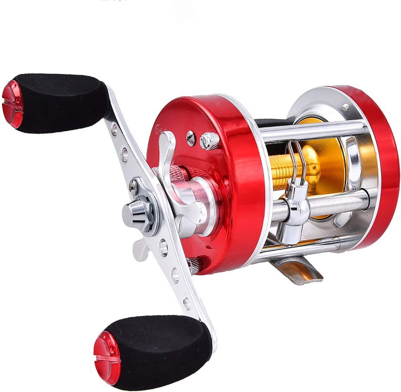 6+1 Baitcasting Wheel Drum Reel Ocean Trolling Fishing Stainless Steel Bearing