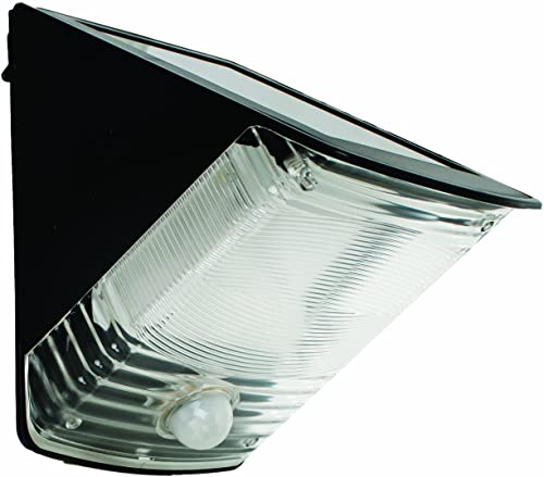 MAXSA 40236 Motion Activated Weatherproof Solar LED Wedge Light, Black