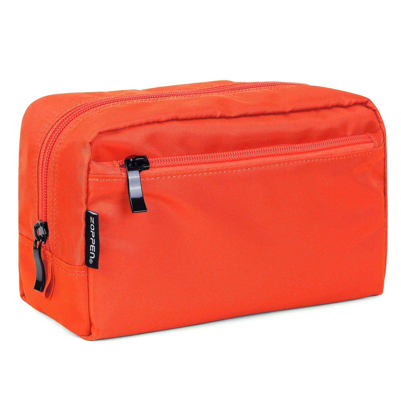 Zoppen Travel Unisex Waterproof Cosmetic Bags Handy Toiletry Makeup Pouch Organizer Case, Orange