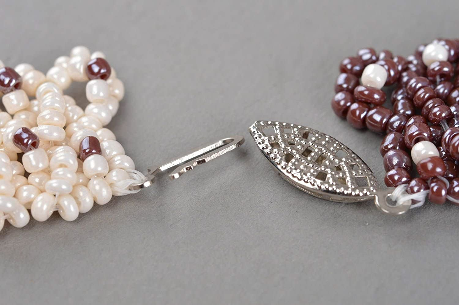 Womens Necklace Handmade Beaded Accessory Pearl Beads Jewelry Crystal Jewelry