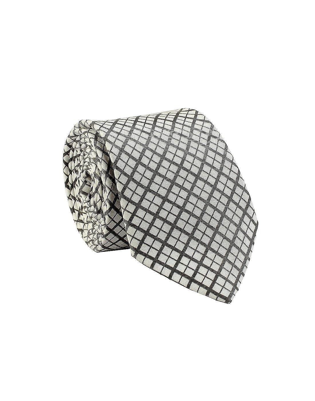 Plaids line Chokore Black /& White Silk Tie