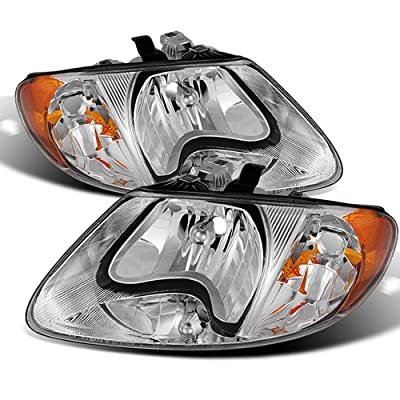 ACANII - For 2001-2007 Dodge Caravan Town & Country 01-03 Voyager Headlights Headlamps Pair Driver + Passenger Side: Automotive