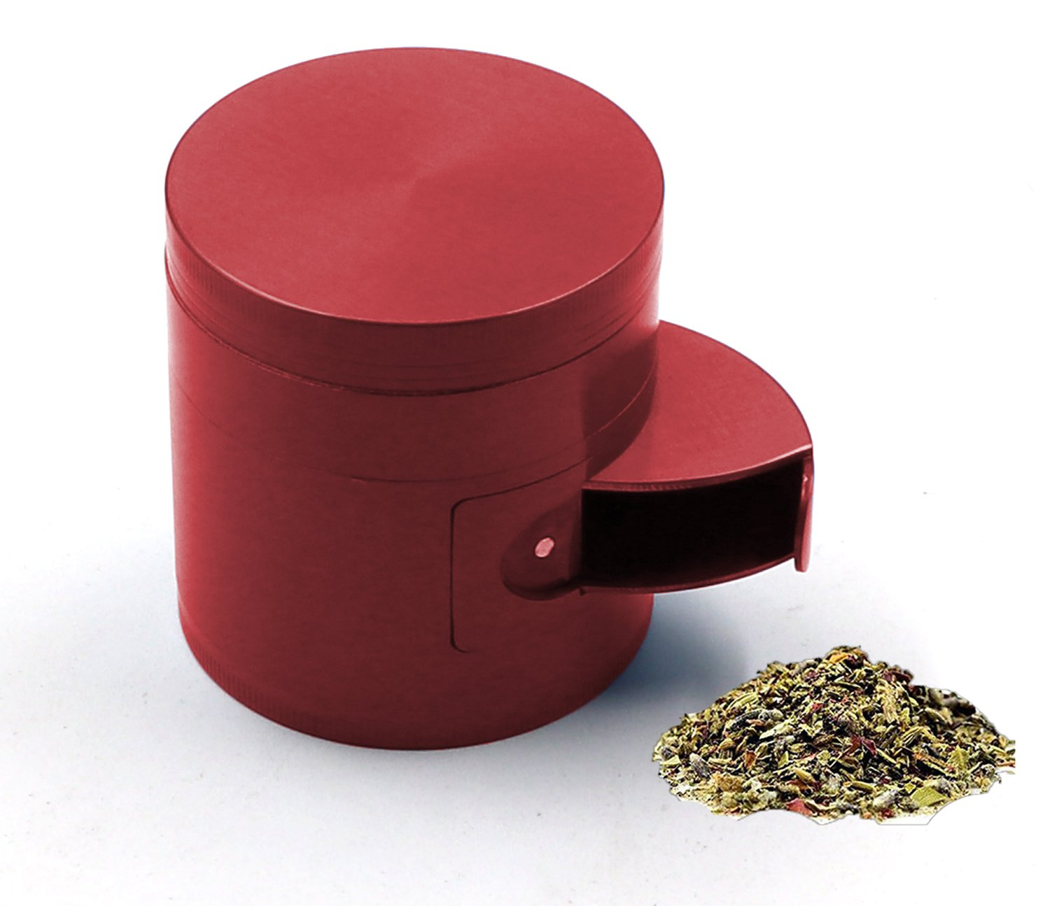 AIMAKE New Design Herb Weed& Spice 4 Piece Large 2.5 Inches Mills Grinder with Pollen Catcher(Black) COMINHKPR146643