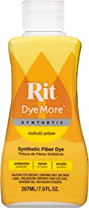 Rit DyeMore Advanced Liquid Dye for Polyester, Acrylic, Acetate, Nylon and More, Daffodil Yellow
