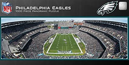 bba3f0bc Philadelphia Eagles 1000 Piece Panoramic Stadium Jigsaw Puzzle 39 x 13in