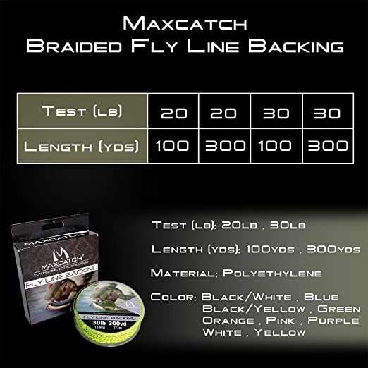 Piscifun Braided Fly Fishing Backing Line