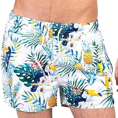 fb7236ce35 Taddlee Swimwear Men Boardshorts Sexy Short Beach Swim Surfing Trunks Quick  Dry(S) White