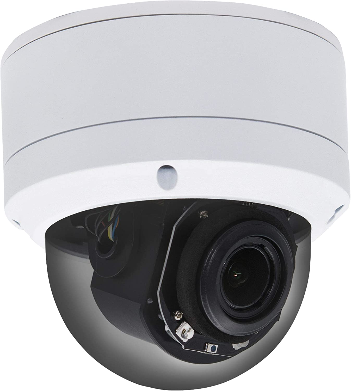 (Hikvision Compatible) Inwerang HD 1080P Outdoor/Indoor POE IP PTZ 2MP Dome Security Camera, 2.7-13.5mm Motorized 5X Zoom,Pan:0~355°/Tilt:0~90°, 98ft Night Vision, Audio in,Motion,Onvif