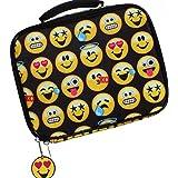 EmojiNation School Lunch Box - Black Emoji Emotions