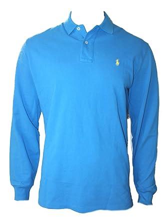 Polo Ralph Lauren D49 - Camiseta de Manga Larga para Hombre Azul ...
